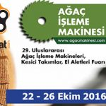 2016 – 29. Uluslarası Ağaç İşleme Makineleri Fuarı (Orman Endüstrisi için)