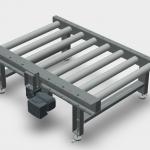 Tahrik Rulolu Konveyör 3 Boyutlu Teknik Çizimi (Palet Taşıma Konveyörü)